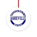 Asheville: Blue Town Keepsake (Round)