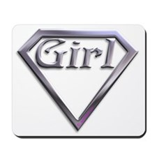 Super Girl Silver Mousepad