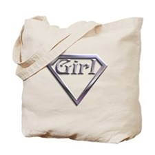 Super Girl Silver Tote Bag