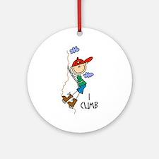 I Climb Ornament (Round)
