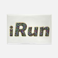 iRun, sprinkle Rectangle Magnet