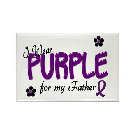 I Wear Purple For My Father 14 Rectangle Magnet (1