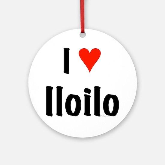I love Iloilo Ornament (Round)