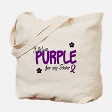I Wear Purple For My Sister 14 Tote Bag