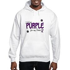I Wear Purple For My Sister 14 Hoodie