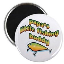 "PAPA'S LITTLE FISHING BUDDY 2.25"" Magnet (10 pack)"