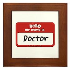 Doctor Name Tag Framed Tile