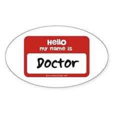 Doctor Name Tag Oval Decal