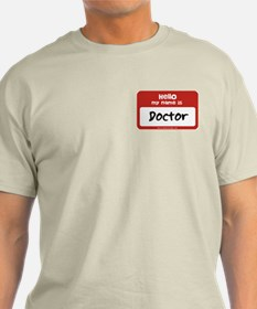 Doctor Name Tag T-Shirt