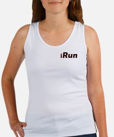 iRun, red trim (front & back) Women's Tank Top