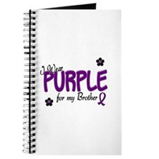 I Wear Purple For My Brother 14 Journal