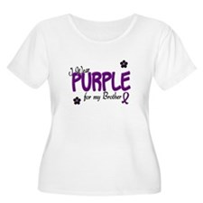 I Wear Purple For My Brother 14 T-Shirt