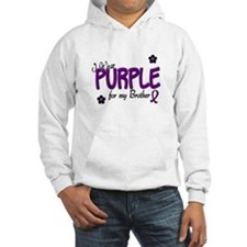 I Wear Purple For My Brother 14 Hoodie