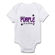 I Wear Purple For My Brother 14 Infant Bodysuit