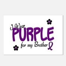 I Wear Purple For My Brother 14 Postcards (Package