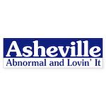 Asheville Abnormal (bumper sticker)