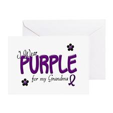 I Wear Purple For My Grandma 14 Greeting Card
