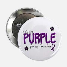 "I Wear Purple For My Grandma 14 2.25"" Button"