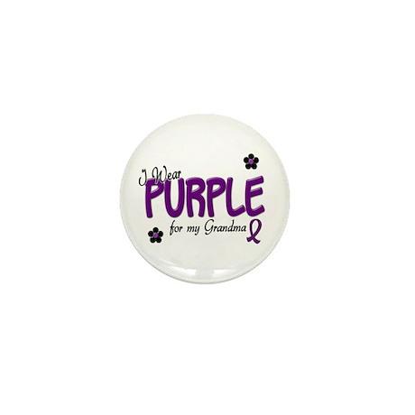 I Wear Purple For My Grandma 14 Mini Button