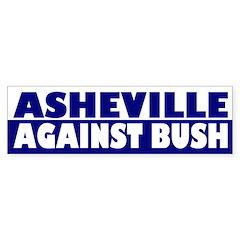 Asheville Anti-Bush bumper sticker