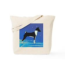 Night Sky Basenji Tote Bag