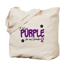 I Wear Purple For My Grandpa 14 Tote Bag
