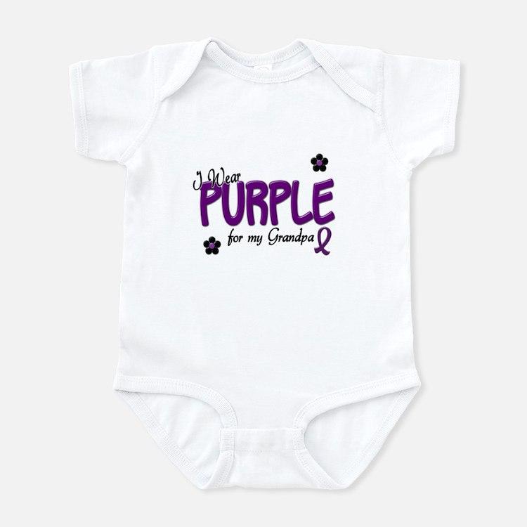I Wear Purple For My Grandpa 14 Infant Bodysuit
