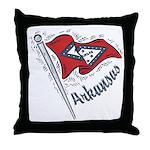 Arkansas Pride! Throw Pillow