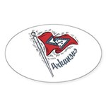 Arkansas Pride! Oval Sticker (50 pk)