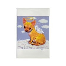 Fallen Angel - Chihuahua Rectangle Magnet