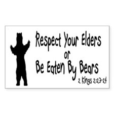 Respect Your Elders Rectangle Decal