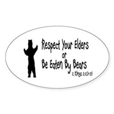 Respect Your Elders Oval Decal