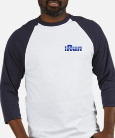 iRun, racing stripe (front & back) Baseball Jersey