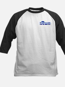 iRun, racing stripe (front & back) Kids Baseball J