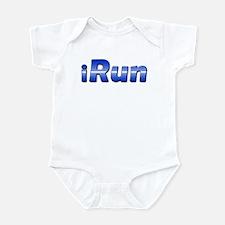 iRun, racing stripe Infant Bodysuit