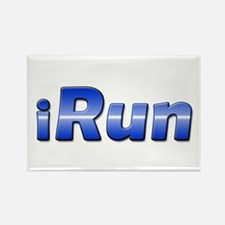 iRun, racing stripe Rectangle Magnet