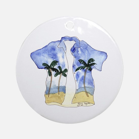 Hawaiian Shirt Keepsake (Round)