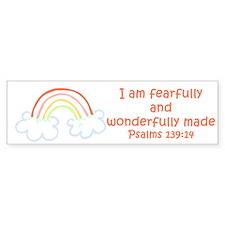 Psalms 139:14 Bumper Bumper Sticker