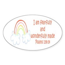 Psalms 139:14 Oval Decal