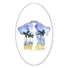 Hawaiian Shirt Oval Decal