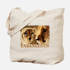 Endangered Cheetahs Tote Bag