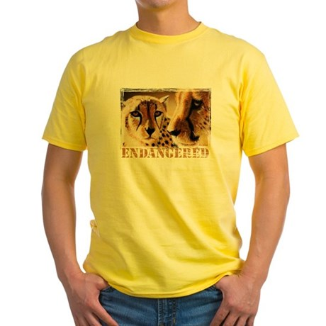Endangered Cheetahs Yellow T-Shirt