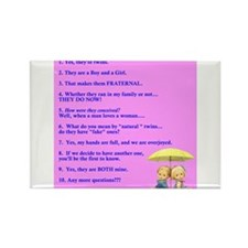 Mousepad Boy Girl Twins Rectangle Magnet (10 pack)