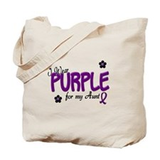 I Wear Purple For My Aunt 14 Tote Bag