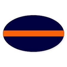 Auburn Thin Orange Line Oval Decal