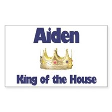 Aiden - King of the House Rectangle Decal