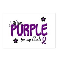 I Wear Purple For My Uncle 14 Postcards (Package o