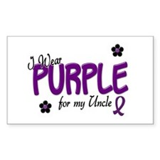 I Wear Purple For My Uncle 14 Rectangle Decal
