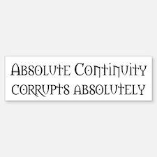 Absolute Continuity Bumper Sticker (10 pk)