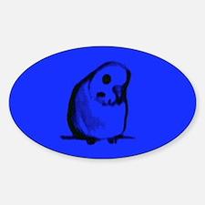 Blue Parakeet Oval Decal